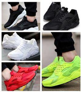 35Huarache Sneakers Big Kids Garçons et filles Coloré Noir Blanc Huarache Bleu Chaussures de course Baskets Triple Huaraches Chaussures de sport