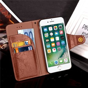 Wholesale Luxury Retro Wax Oil Leather Flip Cover Case for iPhone 6 6s 6 Plus Business Style Leather Cover with free Lanyard
