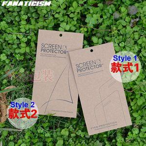 Universal Kraft papier d'emballage Retail Box pour l'iPhone 11 XR XS Max 8 7 6S plus Samsung S20 S10 en verre trempé écran protecteur