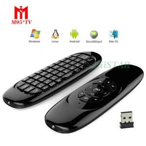 C120 Fly Air Mouse 2.4Ghz Game Handle with 3-Gyro & 3-Gravity Sensor Remote Control Mini Keyboard for PC HTPC Android Smart Tv Box