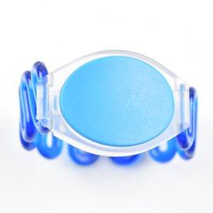 100 unids / lote 13.56 MHz RFID pulsera de pulsera de silicona NFC tarjeta de proximidad inteligente a prueba de agua para control de acceso