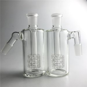 4.5 pulgadas de vidrio Bong Ash Catchers 14 mm 18 mm grueso Pyrex Glass Bubbler cenizas Cat 45 90 grados de vidrio Ashcatcher tuberías de agua