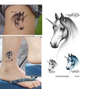 Zodiac Horse Design Wasserdicht Temporäre Tattoo Sticker Flash Fake Tattoo Body Art Wassertransfer Tattoo Aufkleber