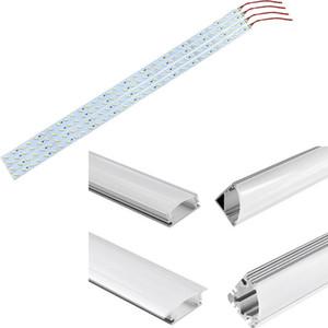 1m alluminio LED Luci della barra 12V 100 centimetri striscia rigida della lampada 5630 SMD illuminazione del Governo per la cucina Showroom vetrina con profilo Canale CE DHL