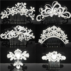 Bridal Wedding Tiaras Stunning Fine Pettine da sposa Accessori per capelli Accessori per capelli Crystal Pearl Hair Brush tornante per la sposa