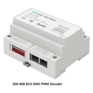 2018 LTECH DIN-808 8CH DMX-PWM فك DC12-24V مدخلات 3A * 8CH ماكس 24A الإخراج 8 قناة LED RGBW قطاع فك