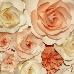 10x10ft крем коралловый цвет 3D цветы стены фон свадебные романтические розы цветочные фотографические фоны новорожденный ребенок фотография съемки опора