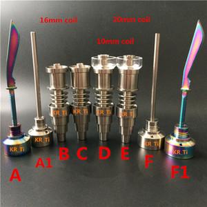 Titanium Carb Cap Dabber Quartz Enail Quartzo Híbrido Titanium Nail Joint10mm 14.5mm 18.8mm Feminino e Macho fit 10mm 16mm 20mm Enail bobina