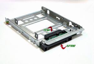 """HP 654540-001 2.5"""" SATA Adaptörü Tepsi Dönüştürücü SAS HDD Parantez Bay SSD ila 3,5"""""""