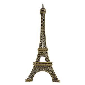 15cm 18cm 25cm 32cm 38cm Home Decor Vintage Bronze Tone Alloy Paris Eiffel Tower Figurine Statue Model Home Decors Souvenir