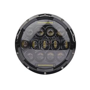 pair La libera 75W 7in rotonda faro sigillato LED per il motociclo fuoristrada Wrangler Rubicon SUV Polaris powersports veicoli