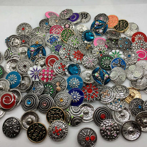 100pcs Lotes Mix Style 18mm Snaps Charm Button Fit Ginger Snap Jewelry