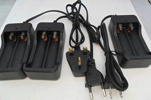 핫 세일 50 개 충전 가능 충전식 리튬 이온 배터리 충전기 US / EU / UK 플러그 / AU 18650 충전기 용 2 슬롯 AC 110V 220V 듀얼 슬롯