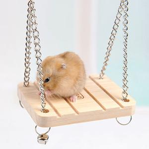الهامستر أرنب فأرة شينشيلا خشبية معلقة أرجوحة أرجوحة صغيرة اللعب قفص الملحقات