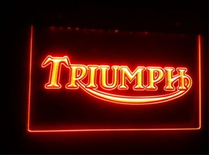 tr04 Triumph 맥주 바 술집 클럽 3D 표지판 네온 조명 기호 홈 장식 공예를 주도