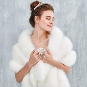2017 Winter Fur Bridal Bolero Jacket Ivory New Arrival Warm Wedding Accessories Bridal Boleros Free Size