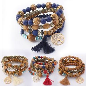 5 Styles Nouvelle Plage De Bohême Multicouche Perles En Bois Gland Arbre De Vie Charme Bracelets Bracelets Pour Femmes Cadeau Poignet Mala Bracelet B630S