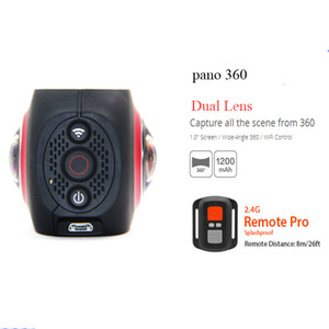بانو 360pro 4K كاميرا بانورامية عدسة مزدوجة 3040 * 1520 30fps 1500mAh 16MP VR wifi Sport Action camera