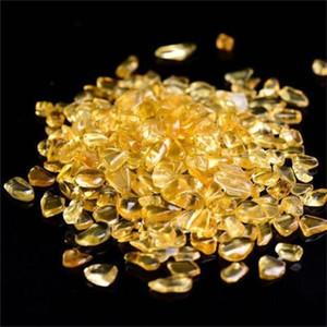 Новые 100 г желтый цитрин кварц Кристалл драгоценный камень шарик упал мини камень рок исцеление для домашнего аквариума Аквариум декор