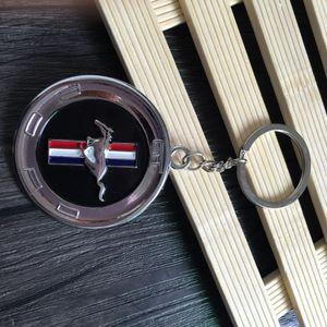 3D Moda portachiavi per Mustang Logo portachiavi Logo personalità Ciondolo auto Mustang 4S catena logo chiave emblema negozio di vendita del regalo di promozione