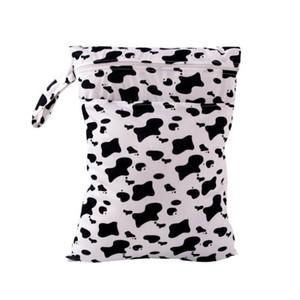 도매 - 인쇄 된 방수 재사용 가능한 아기 기저귀 가방 수영 엄마 기저귀 기저귀 가방 천 기저귀