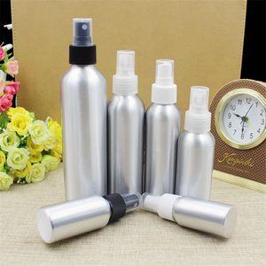 Bottiglia di alluminio dello spruzzo Bottiglie di profumo riutilizzabile cosmetico Imballaggio Make-up Container 30ml / 50ml / 100ml / 120ml / 150ml / 250ml