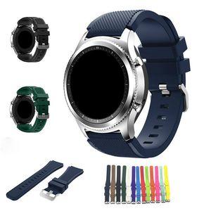 Nueva banda reloj de pulsera de silicona de reemplazo de la correa de cierre para Samsung S3 engranaje inteligente pulsera de reloj de 17 del color de DHL libre
