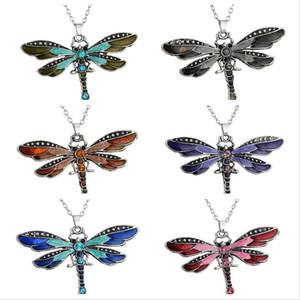 Bestes Geschenk Libelle kreative Halskette Explosion Absatz Zubehör Pullover Kette WFN019 (mit Kette) Mischungsauftrag 20 Stücke viel