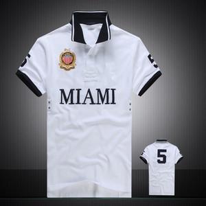 İndirimli PoloShirt erkekler Kısa Kollu T gömlek Marka Miami New York Chicago Los Angeles Dubai polo gömlek erkekler Ucuz Yüksek Kalite Ücretsiz Kargo