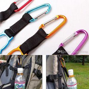 Envío gratis 50 unids cierre de mosquetón Clip de botella de agua hebilla titular Camping Snap gancho clip-on Clicp en