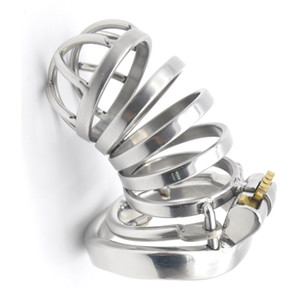 2017 New arrival chastity cage with spike anti-off ring chastity cb stainless steel small chastity devices for men