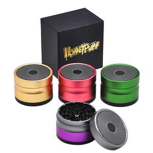 Nouvelle arrivée Honeypuff Herb Grinders 63mm Diamètre 4 couches En Alliage D'aluminium Métal Épices Herb Grinder Avec Top Pour Fumeur 4 Couleur
