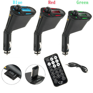 3color Car Audio Fm Transmitter Mp3 Player Wireless Remote Control Car Kit Usb Charger For Car Stereos