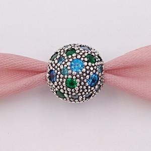 Authentique 925 Argent Perles vert Clips Cosmic Etoiles Charm Collier Bijoux européenne Fits Pandora style Bracelets 791286MCZMX
