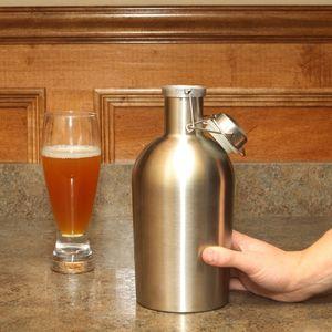 più economico growler 64 once di birra in acciaio inox fiaschi portatili Whisky Single muro alcool vino fiaschetta di bere il trasporto libero del partito caraffa (7)