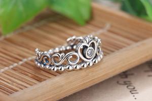 Un gros 925 Argent La couronne bague bague Fit Pandora Cubic Zircon Anniversaire Bijoux pour Femmes cadeau De Noël