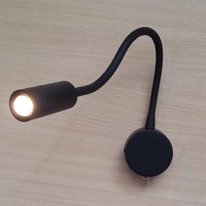 TopocH flexible Lámparas Negro mate atado con alambre de encendido / apagado del LED 3W 200lm AC100-240V Residencial Comercial Barco y RV de iluminación