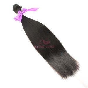 6 Bundles + freies Verschiffen erstklassiges seidiges gerades Haar-Einschlagfaden-Faser natürliche Farbe 1B Hochtemperatur-Haar-spinnendes Haar-Verlängerung