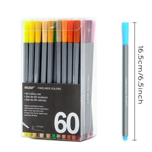 Jel Kalem Sıvı Mürekkep 60 Renkler / Set 0.4 Mm Ince Astar Jel Kalemler Kroki Çizim Renk Kalem Sanat Markers Çizim Manga Tasarım Sanat Seti Malzemeleri