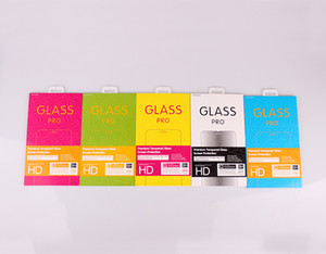 Custom made luxo caixa de embalagem de vidro temperado pacote para iphone 8 8 plus 7 7 plus protetor de tela de vidro temperado