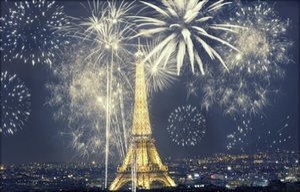 Paris Fotoğraf Backdrop Güzel Şehir Gece Görünümü Sparkle Fireworks Altın Bling Eyfel Kulesi Romantik Düğün Backdrop 10x8ft