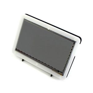 Display LCD HDMI da 7 pollici RCA 3 Freeshipping con custodia in acrilico Schermo tattile capacitivo da 1024 * 600 per Raspberry Pi 2 BB Nero Banana Pi / Pro