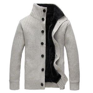 Winter Männer Pullover Rollkragen Wollmantel Dicke Strickjacke Strickwaren Pullover Warme Fleece Hoodie Sweatshirt Casual COAT