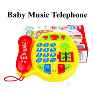 2pcs lot Free shipping Creative Educational learning telephone children's toys multifunction music phone baby toy gift