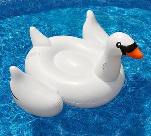 1.5 متر العملاق سوان نفخ فلامنغو تعويم جديد سوان نفخ يطفو السباحة الدائري طوف السباحة بركة لعب للأطفال
