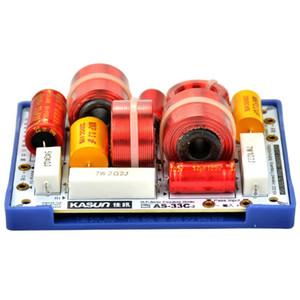 Freeshipping 2 pz \ lotto 3 Way Frequency Divider Crossover KASUN AS-33C 3Way 3 Unità HiFi Diffusori di Frequenza Divisori Filtri Crossover
