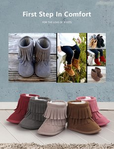 Mescolare i colori e le dimensioni stivali baby nappa Fashion Winter snow baby shoes Comode caldissime scarpe outdoor da bambino Mocs