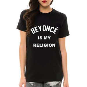 Wholesale-Beyonce Is My Letter Funny Print T Shirt For Female Tops Short Sleeve Black White Big Tees Shirts Femme Camisetas Mujer