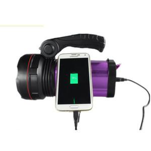 Faretto LED ricaricabile LED Maniglia Searchlight XML T6 3 modalità Torcia Palmare Proiettore + Caricatore Torcia portatile Luce da campeggio NOVITÀ