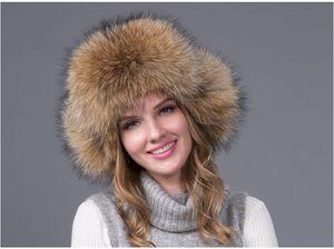 Vendita calda caldo Inverno volpe di volpe delle donne cappello di pelliccia bomber cappelli berretto da neve pelliccia modisteria pelliccia di spessore bomber cappelli protettore cap